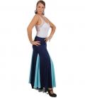 faldas flamencas azul
