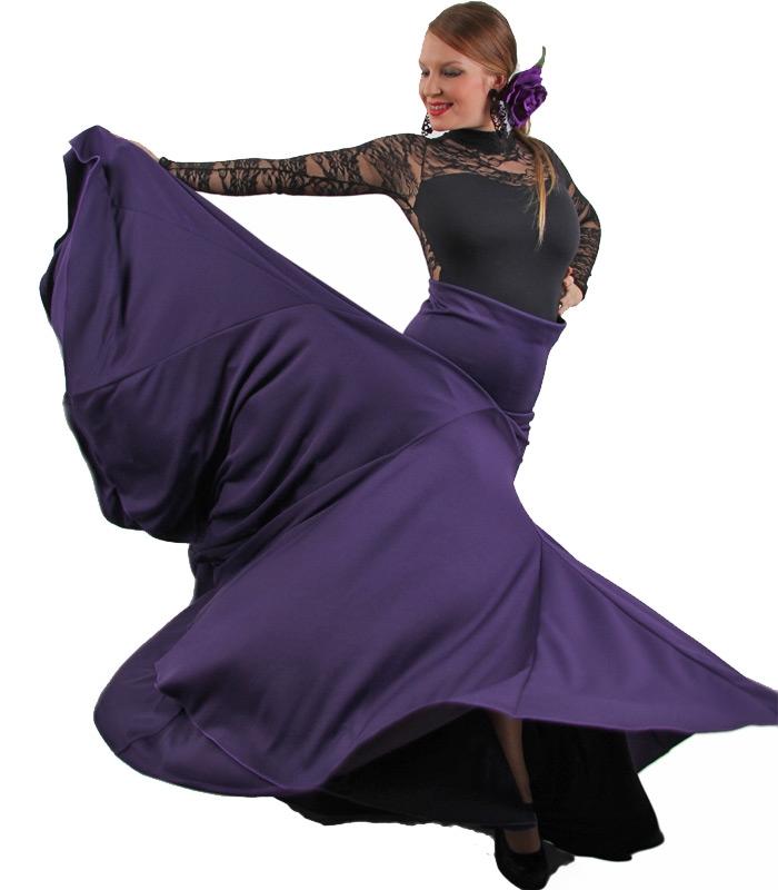 Faldas de flamenca 8 godet cintura alta - El rocio