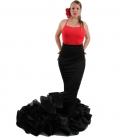 falda de cola flamenca