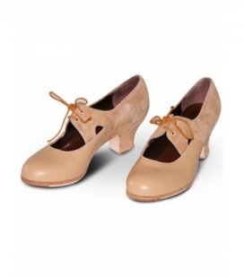 Zapatos de Flamenca Yerbabuena B (Ante/Piel)