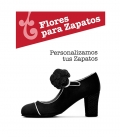 Flor Margarita para zapatos de flamenco