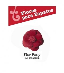 Flor Pony para Zapatos de Flamenco