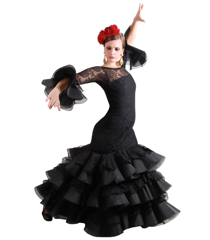 Vestidos gitana negro