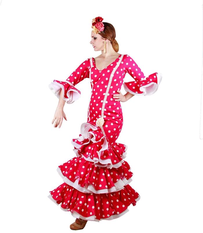 Vestidos de flamenca 2017 en fucsia