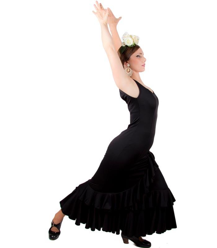 Vestidos De Baile Flamenco Modelo Salón - El Rocio trajes y vestidos ... ef99ccd1c5f
