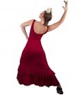 vestido rojo de flamenco