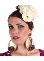 Pendiente De Flamenca con Flores
