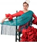 Mantón De Flamenca De Encaje