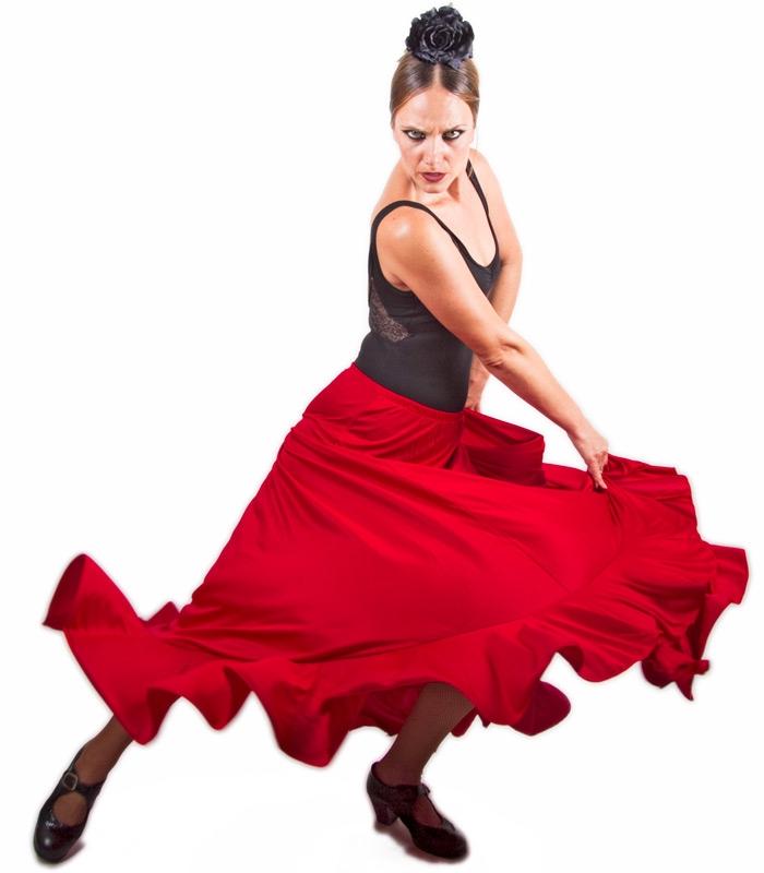 99d1b811e Falda flamenca de baile de ensayo de flamenco - El Rocío