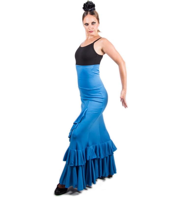 ecb8d1a4f Faldas flamencas de baile y faldas para bailar flamenco salón cintura alta  por 39,90 €