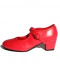 Zapatos de gitanilla rojos