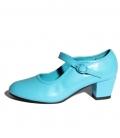 Zapatos de gitanilla turquesa