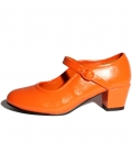 Zapato de gitanilla naranja