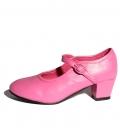 Zapato de gitanilla fucsia