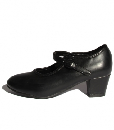 Zapato de gitana negro