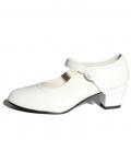 Zapato de gitana blanco