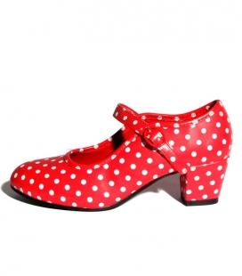 Zapatos de Flamenco Lunares Niña