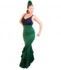 falda de flamenco cintura alta