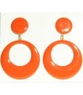 Pendientes de Flamenca naranjas