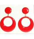 Pendientes de Flamenca rojos
