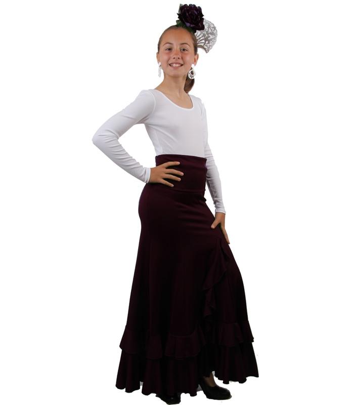 b2e60b1a6 Faldas de Ensayo Flamenco Niñas, Modelo Salon F115 - El Rocio