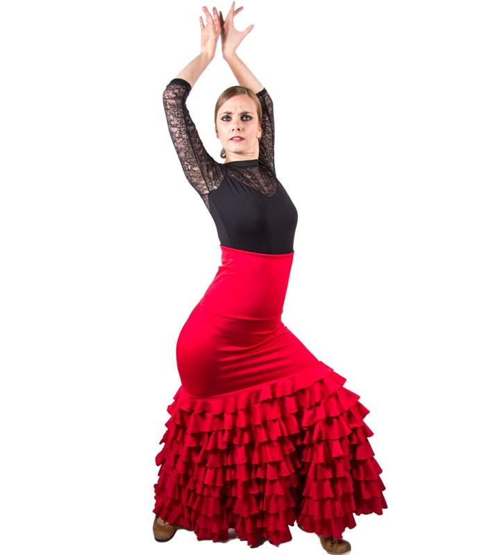 62ad1b3fdf6 Faldas de Flamenco modelo Sol - El Rocio faldas de ensayo flamenco