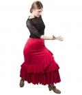 faldas de baile rojas