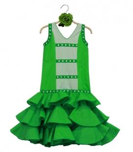Conjunto De Flamenca Niñas, talla 7