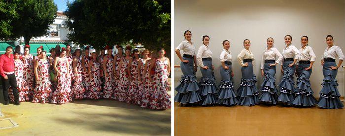 Grupos Flamencos, El Rocío, Trajes de Flamenca