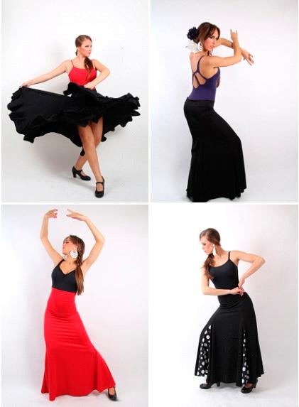 Faldas flamencas para el baile flamenco