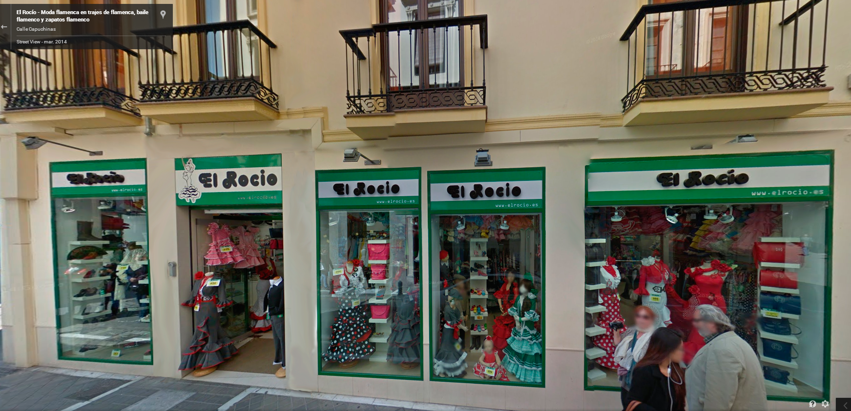 El Rocío, Trajes de Flamenca - Tienda de Granada